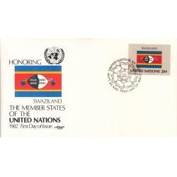 پاکت مهر روز کشورهای عضو سازمان ملل - سوازیلند -  نیویورک سازمان ملل 1982