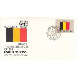 پاکت مهر روز کشورهای عضو سازمان ملل - بلژیک -  نیویورک سازمان ملل 1982