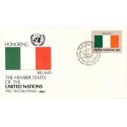 پاکت مهر روز کشورهای عضو سازمان ملل - ایرلند -  نیویورک سازمان ملل 1982