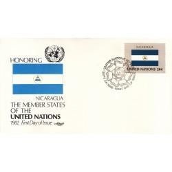 پاکت مهر روز کشورهای عضو سازمان ملل - نیکاراگوئه -  نیویورک سازمان ملل 1982