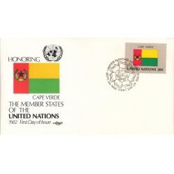 پاکت مهر روز کشورهای عضو سازمان ملل - کیپ ورد -  نیویورک سازمان ملل 1982