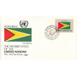 پاکت مهر روز کشورهای عضو سازمان ملل - گویان -  نیویورک سازمان ملل 1982