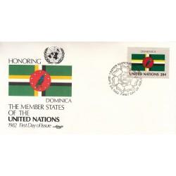 پاکت مهر روز کشورهای عضو سازمان ملل -  دومینیکا -  نیویورک سازمان ملل 1982