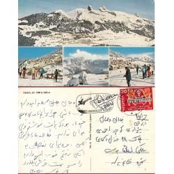 کارت پستال خارجی شماره 166 -مستعمل - تمبردار -  سوئیس 1969
