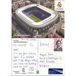کارت پستال خارجی شماره 167 -مستعمل - تمبردار -  استادیوم سانتیاگو برنابئو - اسپانیا 2016