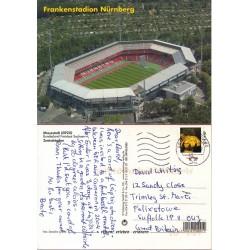 کارت پستال خارجی شماره 168 -مستعمل - تمبردار -  استادیوم نورنبرگ - آلمان 2013