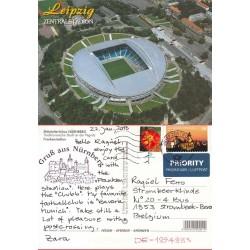 کارت پستال خارجی شماره 169 -مستعمل - تمبردار -  استادیوم لایپزیک - آلمان 2012