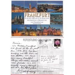 کارت پستال خارجی شماره 170 -مستعمل - تمبردار - فرانکفورت - آلمان