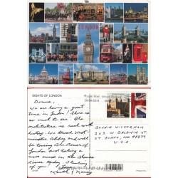 کارت پستال خارجی شماره 171 -مستعمل - تمبردار - مناظر لندن - انگلیس 2014