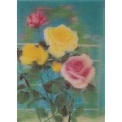کارت پستال خارجی شماره 184 - سه بعدی - گل