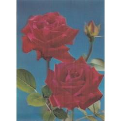 کارت پستال خارجی شماره 187 - سه بعدی - گل -  چاپ ژاپن