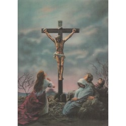 کارت پستال خارجی شماره 188 - سه بعدی - مسیح مصلوب -  چاپ ژاپن