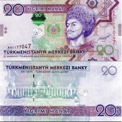 اسکناس 20 منات - ترکمنستان 2012