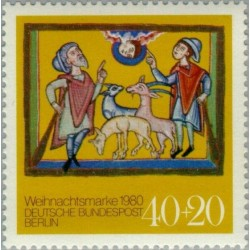 1 عدد تمبر کریستمنس - برلین آلمان 1980