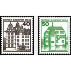 2 عدد تمبر سری پستی - قصرها و قلعه ها - برلین آلمان 1980