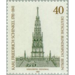 1 عدد تمبر 200مین سال تولد کارل فردریش شینکل - سازنده  - برلین آلمان 1981