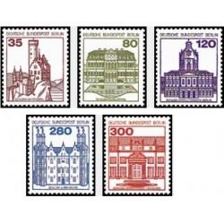 5 عدد تمبر سری پستی - قصرها و قلعه ها - برلین آلمان 1982 قیمت 13.39 دلار