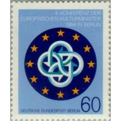 1 عدد تمبر کنفرانس وزیران امور فرهنگی اروپا - برلین آلمان 1984