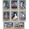 8 عدد تمبر تابلوهای نقاشی اثر ایگناسیو زولواگا - اسپانیا 1971