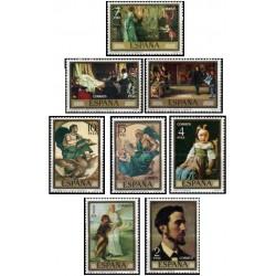 8 عدد تمبر روز تمبر - تابلوهای نقاشی اثر ادواردو روزالس - اسپانیا 1974