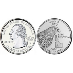 سکه کوارتر - ایالت آیداهو - آمریکا 2007 غیر بانکی