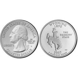 سکه کوارتر - ایالت وایومینگ - آمریکا 2007 غیر بانکی