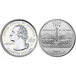 سکه کوارتر - ایالت یوتاه - آمریکا 2007 غیر بانکی
