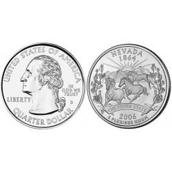 سکه کوارتر - ایالت نوادا  - آمریکا 2006 غیر بانکی