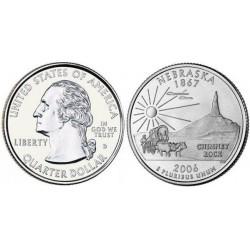 سکه کوارتر - ایالت نبراسکا - آمریکا 2006 غیر بانکی