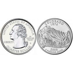 سکه کوارتر - ایالت داکوتای شمالی - آمریکا 2006 غیر بانکی