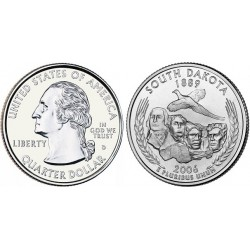 سکه کوارتر - ایالت داکوتای جنوبی - آمریکا 2006 غیر بانکی