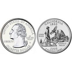 سکه کوارتر - ایالت کالیفرنیا - آمریکا 2005 غیر بانکی