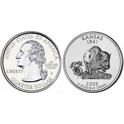 سکه کوارتر - ایالت کانزاس - آمریکا 2005 غیر بانکی