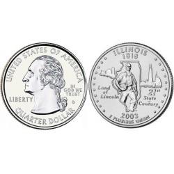 سکه کوارتر - ایالت ایلینویز- آمریکا 2003 غیر بانکی