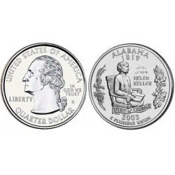 سکه کوارتر - ایالت آلاباما - آمریکا 2003 غیر بانکی
