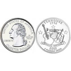 سکه کوارتر - ایالت تنسی - آمریکا 2002 غیر بانکی