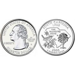 سکه کوارتر - ایالت کارولینای جنوبی - آمریکا 2000 غیر بانکی