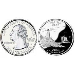 سکه کوارتر - ایالت ماین - آمریکا 2003 غیر بانکی