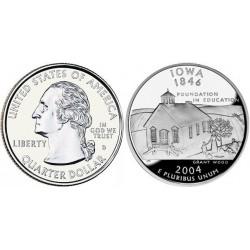 سکه کوارتر - ایالت آیووا - آمریکا 2004 غیر بانکی