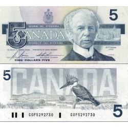 اسکناس 5 دلار - کانادا 1986