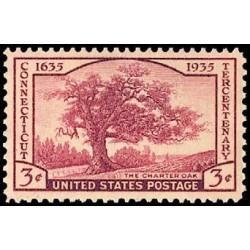 1 عدد تمبر سیصدمین سال تاسیس ایالت کنتیکت - آمریکا 1935