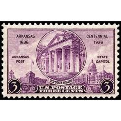 1 عدد تمبر صدمین سال تاسیس ایالت آرکانزاس - آمریکا 1936