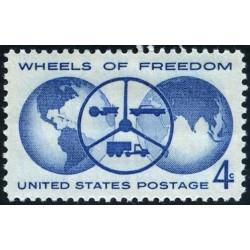 1 عدد تمبر چرخهای استقلال - آمریکا 1960