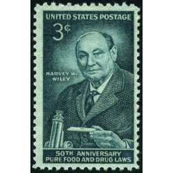 1 عدد تمبر 50مین سال قانون غذا و دارو - هاروی واشینگتن ویلی - آمریکا 1956