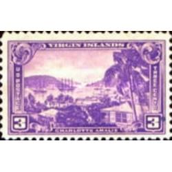1 عدد تمبر بندر شارلوت آمالی - جزایر ویرجین - آمریکا 1937
