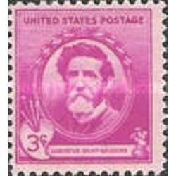 1 عدد تمبر یادبود مشاهیر آمریکا - آگوست سنت گودنس - هنرمند  - آمریکا 1940