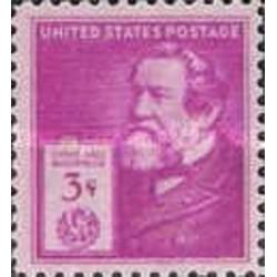 1 عدد تمبر یادبود مشاهیر آمریکا - سایروس هال مک کومیک  - مخترع - آمریکا 1940