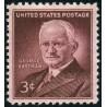 1 عدد تمبر یادبود جورج ایستمن مخترع فیلم رول و بنیانگذارر کمپانی کداک - آمریکا 1954