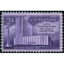 1 عدد تمبر پنجمین نمایشگاه بین المللی تمبر - آمریکا 1956