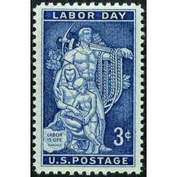 1 عدد تمبر روز کارگر - آمریکا 1956